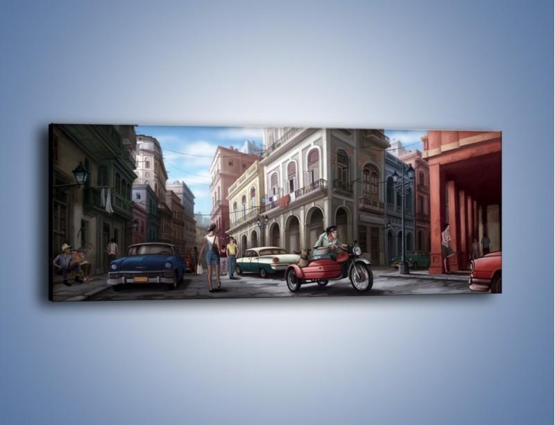 Obraz na płótnie – Codzienne życie na kubie – jednoczęściowy panoramiczny GR627
