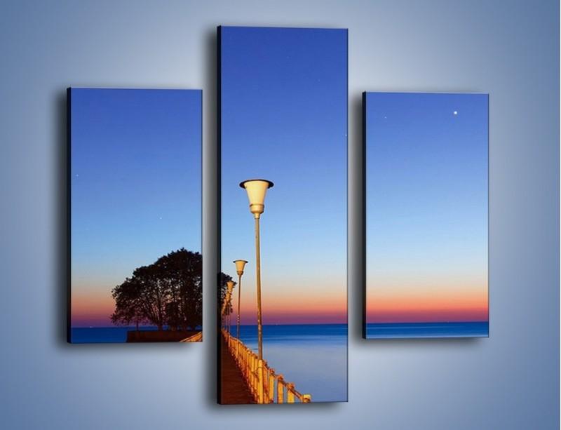 Obraz na płótnie – Wieczorny spacer po tafli morza – trzyczęściowy KN759W3