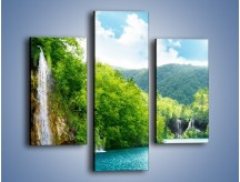 Obraz na płótnie – Cały urok górskich wodospadów – trzyczęściowy KN769W3