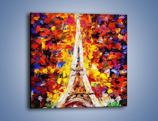 Obraz na płótnie – Wieża eiffla jesienią – jednoczęściowy kwadratowy GR503