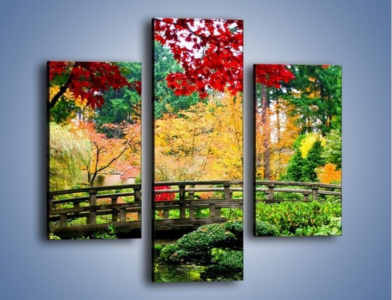 Obraz na płótnie – Mostem do roślinnego raju – trzyczęściowy KN782W3