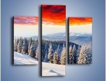 Obraz na płótnie – Cały urok gór zimą – trzyczęściowy KN805W3