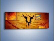 Obraz na płótnie – Dotyk w tańcu – jednoczęściowy panoramiczny GR633