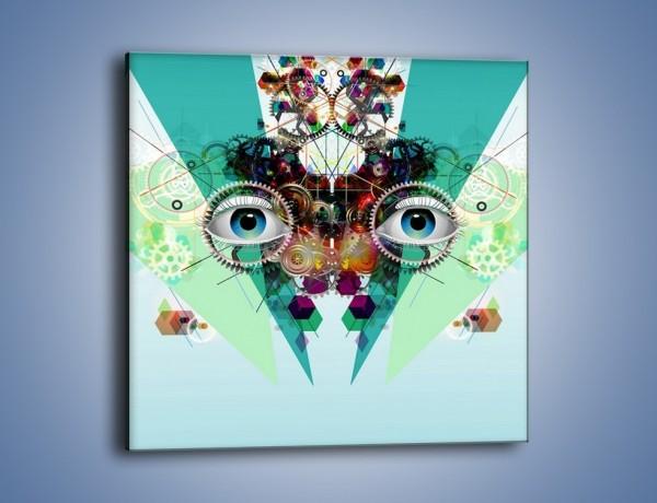 Obraz na płótnie – Mechanicznie otwarte oczy – jednoczęściowy kwadratowy GR504