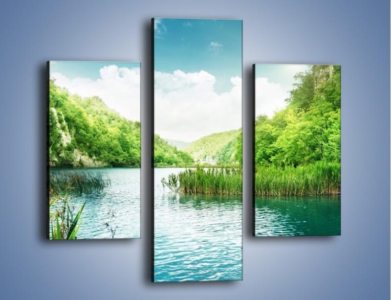 Obraz na płótnie – Wodnym śladem wśród zieleni – trzyczęściowy KN884W3