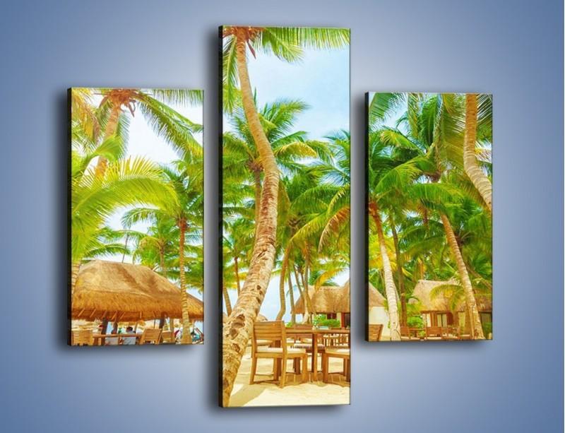 Obraz na płótnie – Słoneczna sjesta pod palmami – trzyczęściowy KN886W3