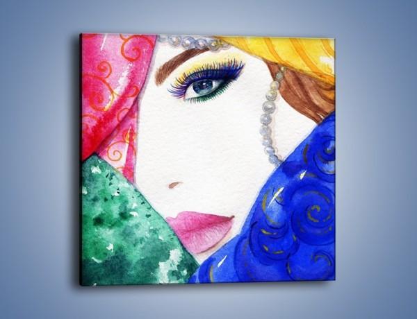 Obraz na płótnie – Kobieta i perły – jednoczęściowy kwadratowy GR506