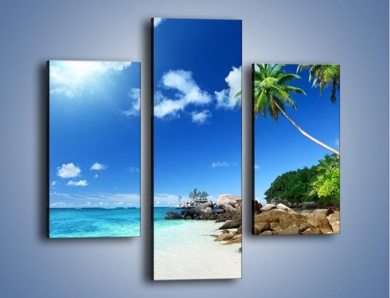 Obraz na płótnie – Rajska plaża i jej piękno – trzyczęściowy KN963W3