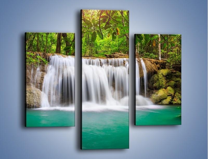 Obraz na płótnie – Kąpiel w środku lasu – trzyczęściowy KN995W3