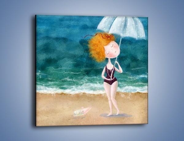 Obraz na płótnie – Ukryć się pod parasolem – jednoczęściowy kwadratowy GR507