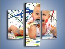 Obraz na płótnie – Chodź pomaluj mój świat – trzyczęściowy L059W3