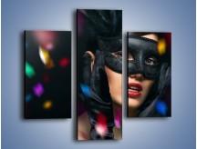 Obraz na płótnie – Bal w czarnych maskach – trzyczęściowy L177W3
