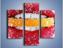 Obraz na płótnie – Cytrusy w słodkich ustach – trzyczęściowy L207W3