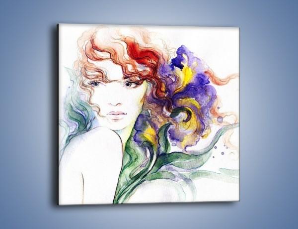 Obraz na płótnie – Kolory we włosach – jednoczęściowy kwadratowy GR513