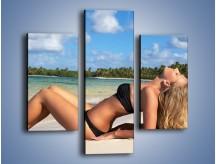 Obraz na płótnie – Czas rajskich plaży – trzyczęściowy L316W3