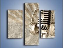 Obraz na płótnie – Głos w srebrnym mikrofonie – trzyczęściowy O026W3