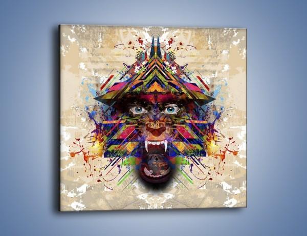 Obraz na płótnie – Groźny mimo kolorów – jednoczęściowy kwadratowy GR515