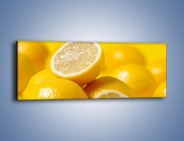 Obraz na płótnie – Kwaśne soczyste cytrynki – jednoczęściowy panoramiczny JN031