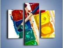 Obraz na płótnie – Kolorowy świat malowany farbami – trzyczęściowy O116W3