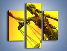 Obraz na płótnie – Figurka ważna w świecie prawa – trzyczęściowy O164W3