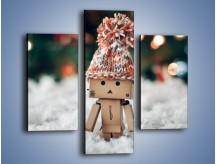 Obraz na płótnie – Mały ludek zimową porą – trzyczęściowy O166W3