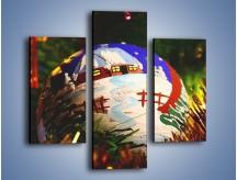 Obraz na płótnie – Bombka ręcznie malowana – trzyczęściowy O168W3