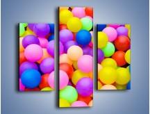 Obraz na płótnie – Basen z kolorowymi piłeczkami – trzyczęściowy O208W3