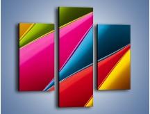 Obraz na płótnie – Idealna kolorowa kompozycja – trzyczęściowy O219W3