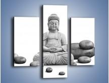 Obraz na płótnie – Budda wśród kamieni – trzyczęściowy O229W3
