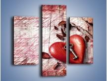 Obraz na płótnie – Klucz do serca – trzyczęściowy O246W3