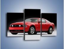 Obraz na płótnie – Czerwony Ford Mustang GT – trzyczęściowy TM052W3