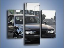 Obraz na płótnie – Czarne BMW E39 M5 – trzyczęściowy TM072W3