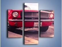 Obraz na płótnie – Czerwony Ford Mustang – trzyczęściowy TM087W3