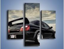 Obraz na płótnie – Czarne Subaru Impreza WRX Sti – trzyczęściowy TM133W3