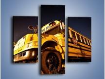 Obraz na płótnie – Amerykański School Bus – trzyczęściowy TM146W3