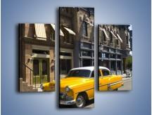 Obraz na płótnie – Amerykańska taksówka z lat 57 – trzyczęściowy TM164W3
