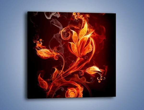 Obraz na płótnie – Kwiat w płomieniach – jednoczęściowy kwadratowy GR526