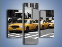 Obraz na płótnie – Amerykańskie taksówki w korku ulicznym – trzyczęściowy TM219W3