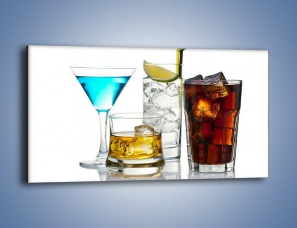 Obraz na płótnie – Kolorowe drinki – jednoczęściowy panoramiczny JN054