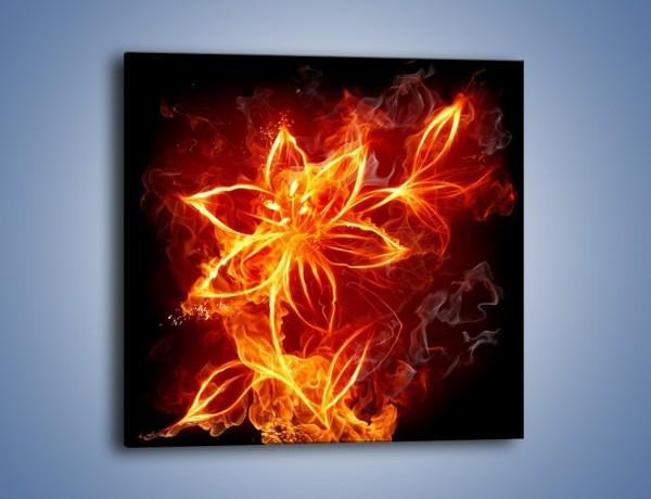 Obraz na płótnie – Spłonąć jak kwiat – jednoczęściowy kwadratowy GR527