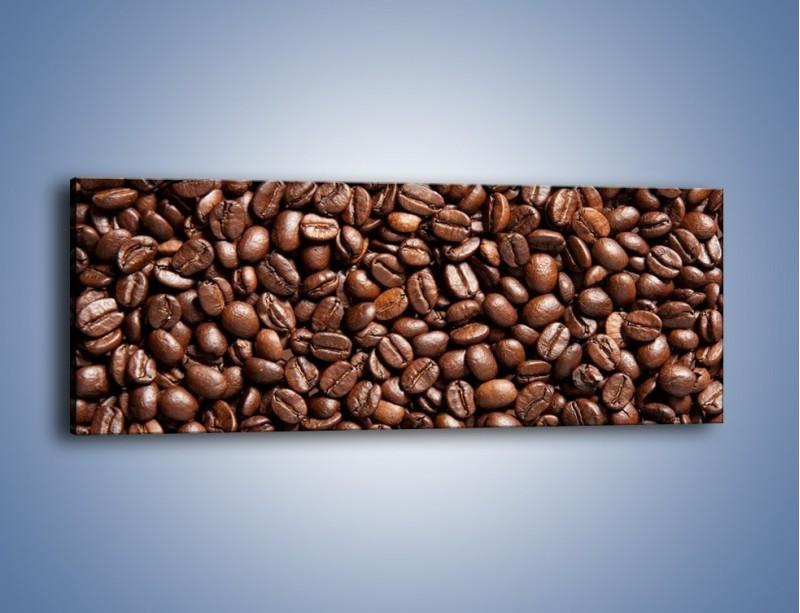Obraz na płótnie – Ziarna świeżej kawy – jednoczęściowy panoramiczny JN061