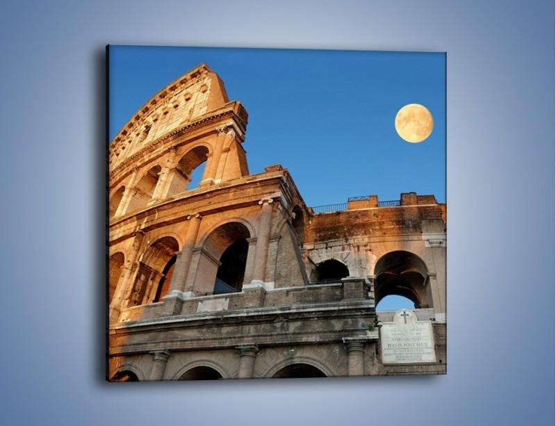 Obraz na płótnie – Pełnia księżyca nad Koloseum – jednoczęściowy kwadratowy AM069