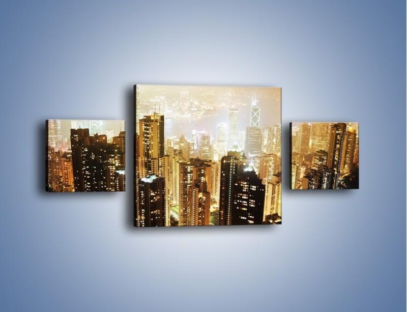 Obraz na płótnie – Miasto widziane z góry – trzyczęściowy AM007W4