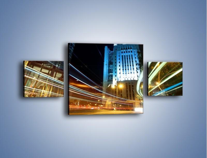 Obraz na płótnie – Światła w ruchu ulicznym – trzyczęściowy AM048W4