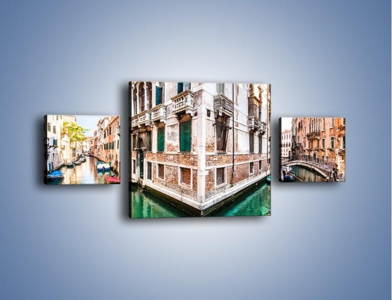 Obraz na płótnie – Skrzyżowanie wodne w Wenecji – trzyczęściowy AM081W4