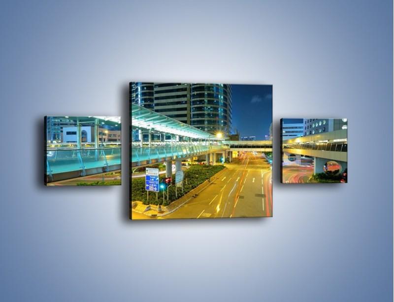 Obraz na płótnie – Droga na lotnisko w Japonii – trzyczęściowy AM088W4