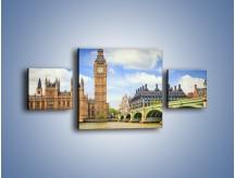 Obraz na płótnie – Big Ben w pochmurny dzień – trzyczęściowy AM095W4