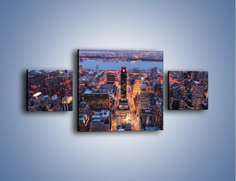 Obraz na płótnie – Budzące się ze snu miasto – trzyczęściowy AM097W4