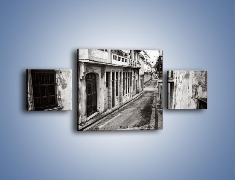 Obraz na płótnie – Urokliwa uliczka w starej części miasta – trzyczęściowy AM124W4