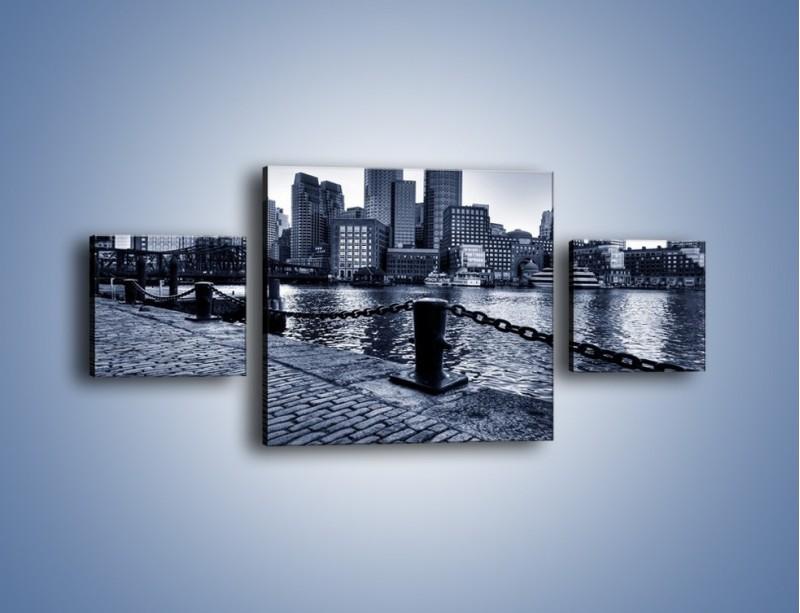 Obraz na płótnie – Wybrukowana wybrzeże miasta – trzyczęściowy AM132W4
